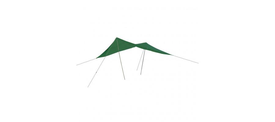 Happy People solsejl 400x300 cm grøn