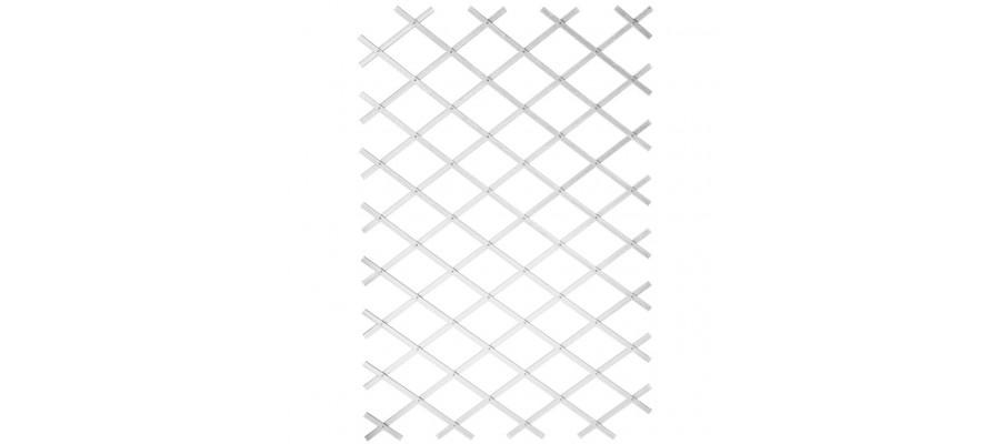Nature haveespalier 100x200 cm PVC hvid 6040703
