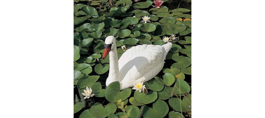 Ubbink hvid svane i plastik til udsmykning af havedam