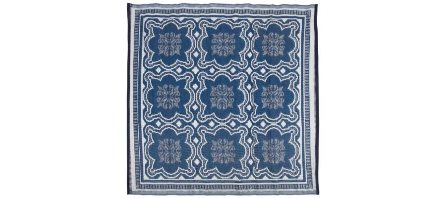 Esschert Design udendørs tæppe 151,5 cm blå og hvid OC23