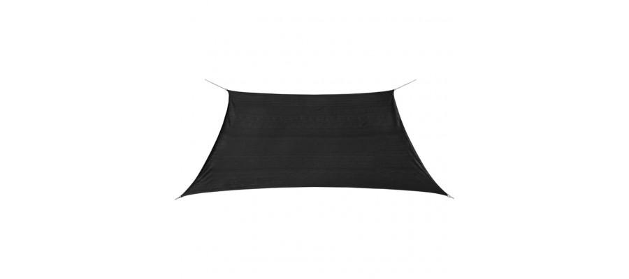 Solsejl HDPE firkantet 2x2 m antracitgrå