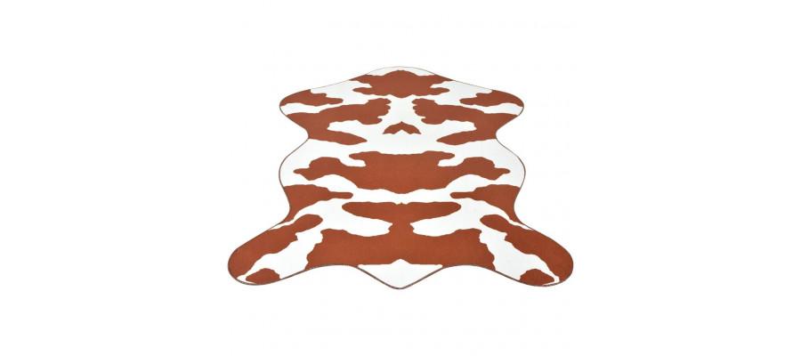 Tæppe i facon 150 x 220 cm brunt koprint