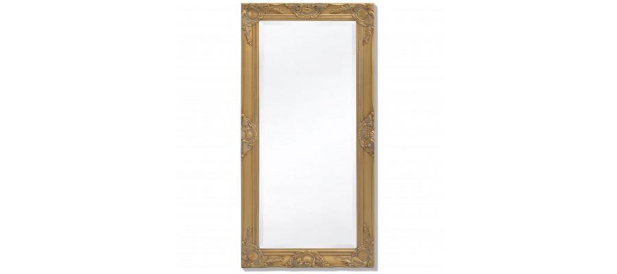 Vægspejl barok-stil 100 x 50 cm guld