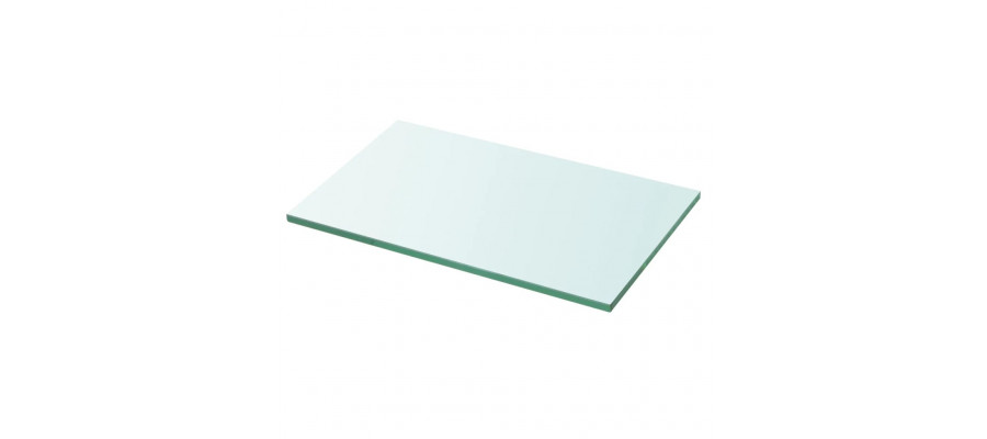 Hylde glaspanel gennemsigtig 30x15 cm