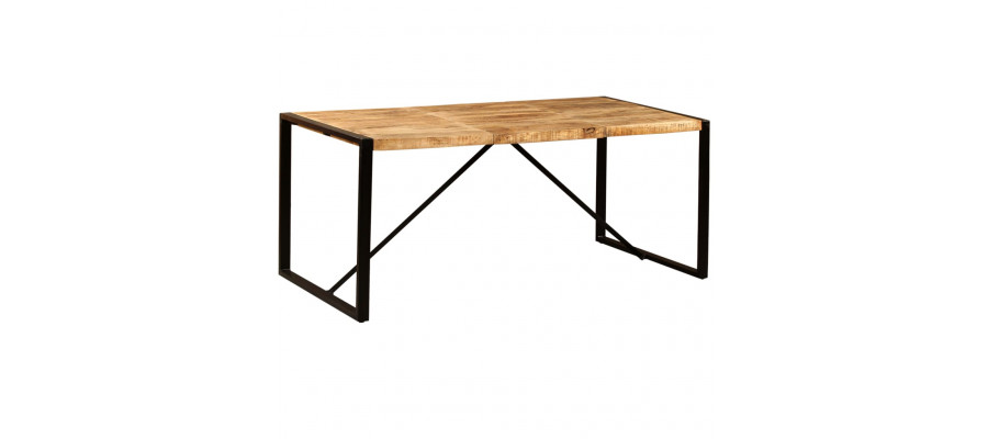 Spisebord i massivt ru mangotræ 180 cm
