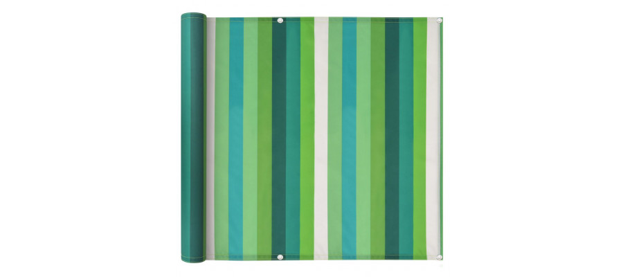 Altanafskærmning oxford-stof 75 x 600 cm stribet grøn