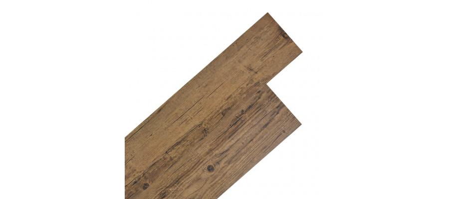 Selvhæftende PVC-gulvplanker 5,02 m² 2 mm valnød brun