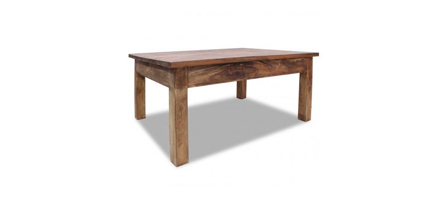 Sofabord massivt genanvendt træ 98 x 73 x 45 cm