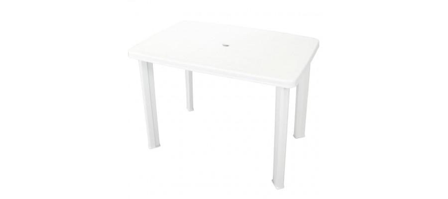 Havebord 101 x 68 x 72 cm plastik hvid