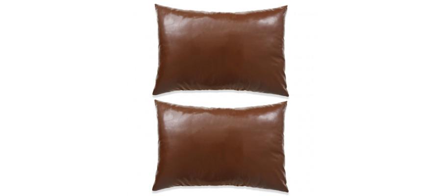 Pudesæt 2 stk. PU 40 x 60 cm brun