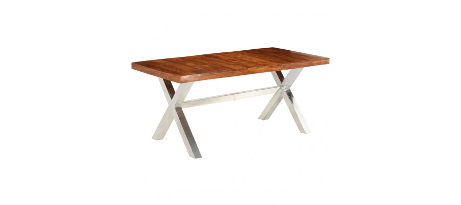 Spisebord i massivt træ med sheesham-finish 180 x 90 x 76 cm