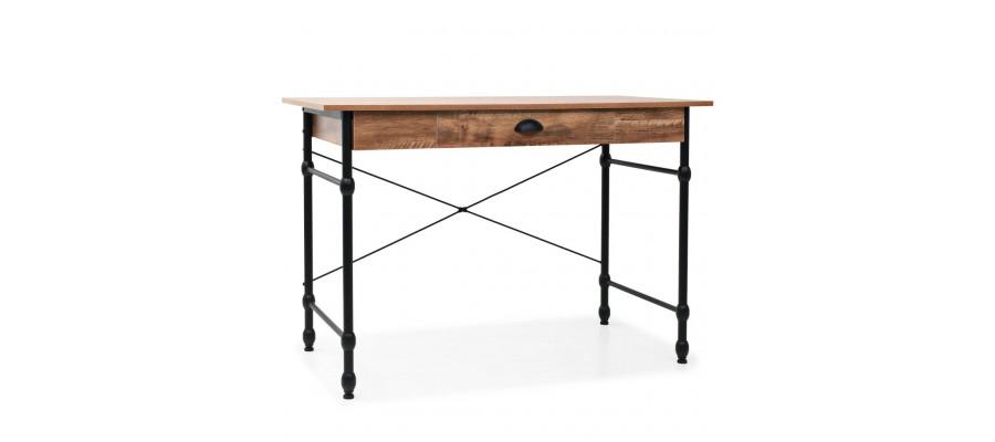 Skrivebord med skuffe 110 x 55 x 75 cm egetræsfarve