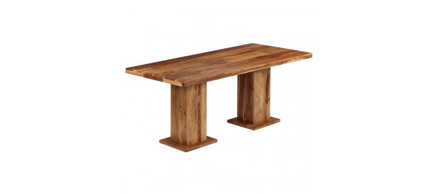 Spisebord massivt sheeshamtræ 175 x 90 x 77 cm