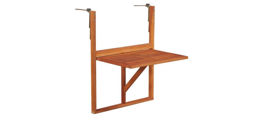 Hængende altanbord i massivt akacietræ 64,5 x 44 x 80 cm