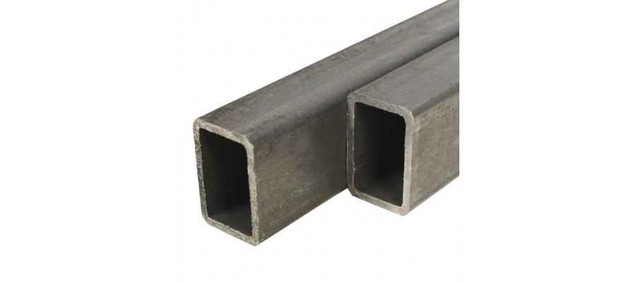 Strukturelle stålrør 2 stk. rektangulær bokssektion 1 m 60 x 30 x 2 mm