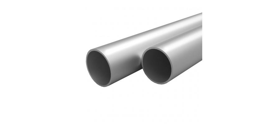 Aluminiumsrør 4 stk. rund 1 m Ø 30 x 2 mm