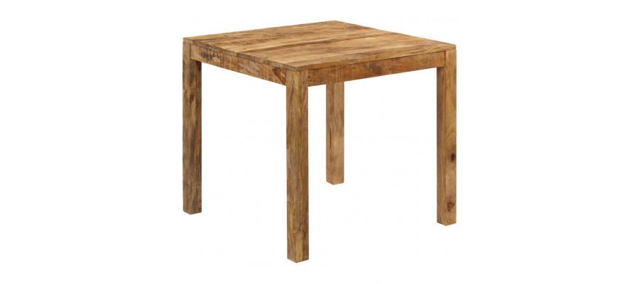 Spisebord i massivt mangotræ 82 x 80 x 76 cm
