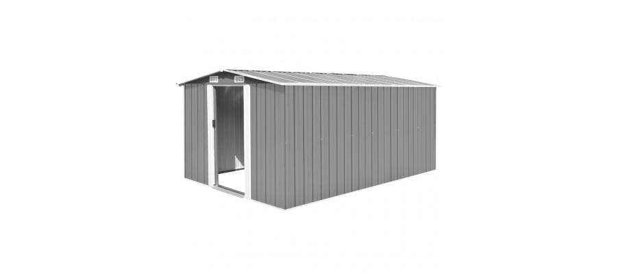 Haveskur 257x398x178 cm metal grå