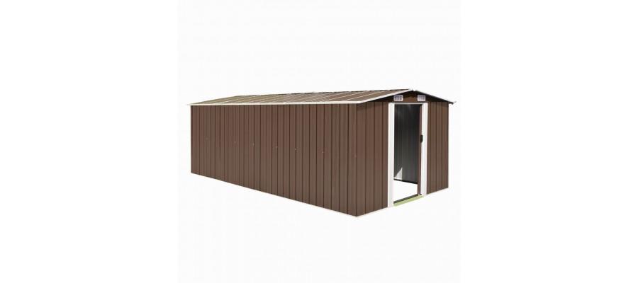 Haveskur 257x497x178 cm metal brun
