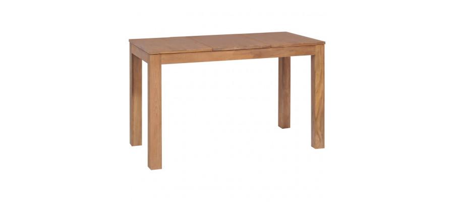 Spisebord i massivt teaktræ med naturlig finish 120 x 60 x 76 cm