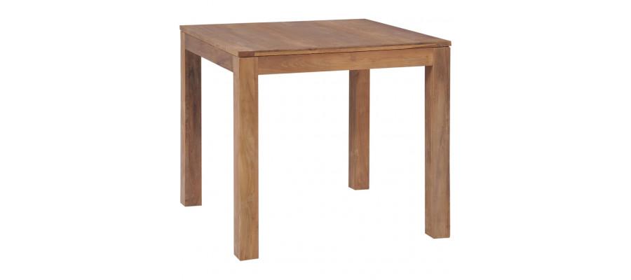 Spisebord i massivt teaktræ med naturlig finish 82 x 80 x 76 cm