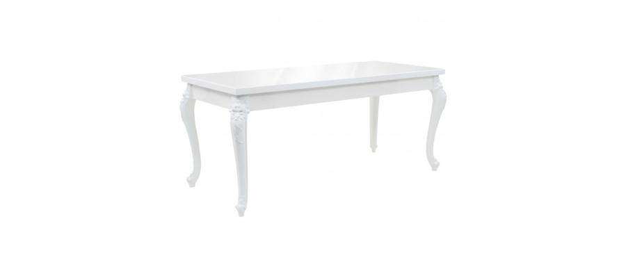 Spisebord 179 x 89 x 81 cm hvid højglans