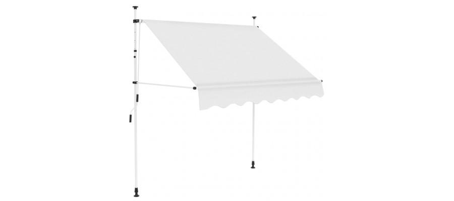 Foldemarkise med manuel betjening 150 cm cremefarvet