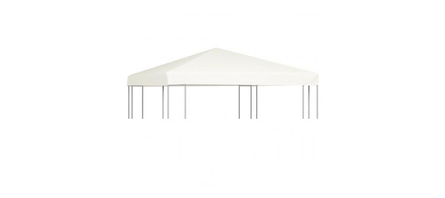 Pavillontopdække 310 g/m² 3 x 3 m cremehvid
