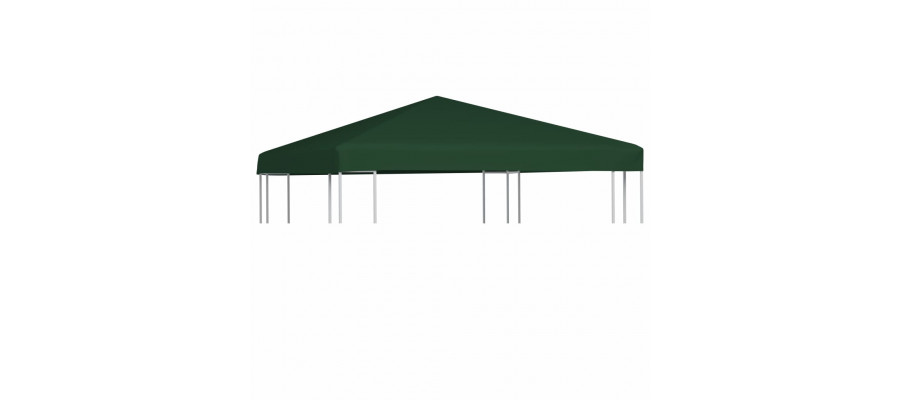 Pavillontopdække 310 g/m² 3 x 3 m grøn