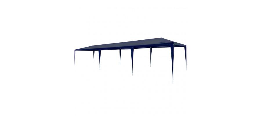 Festtelt 3 x 9 m PE blå