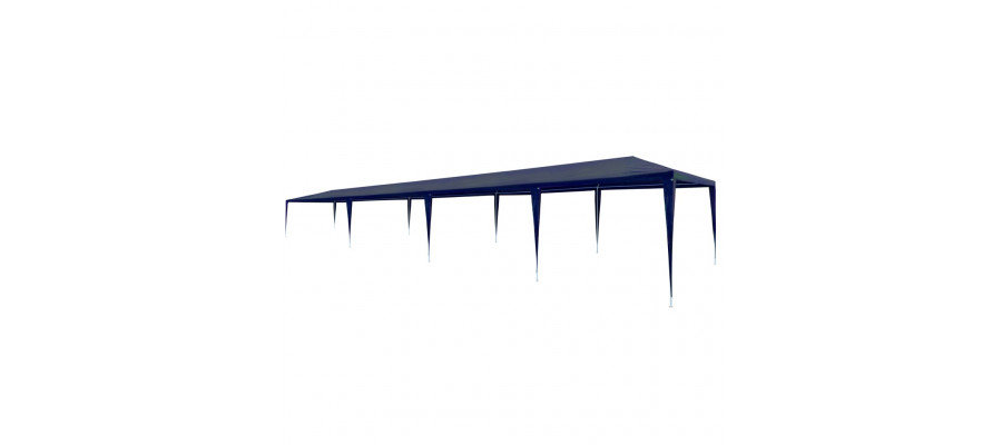 Festtelt 3 x 12 m PE blå