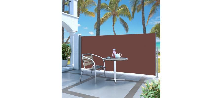 Sammenrullelig sidemarkise 120 x 300 cm brun