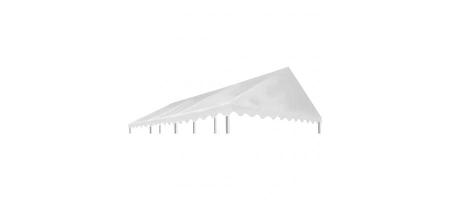 Pavillontopdække PVC 500 g/m² 6 x 4 m hvid