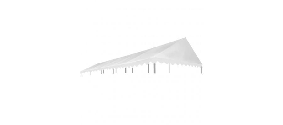 Tag til festtelt 5 x 10 m 450 g/m² hvid