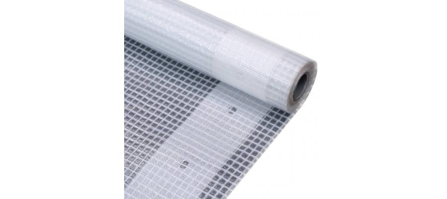 Leno-presenning 260 g/m² 4 x 4 m hvid