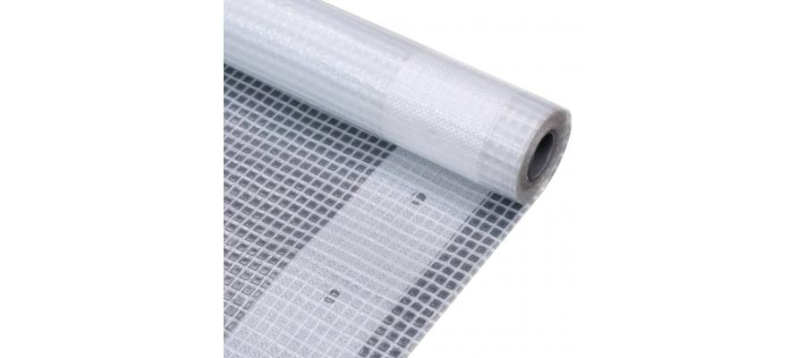 Leno-presenning 260 g/m² 4 x 20 m hvid