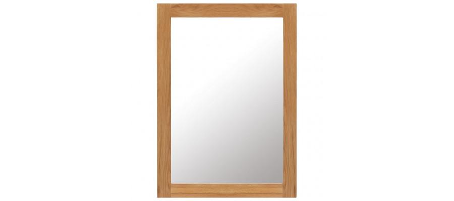 Spejl 50 x 70 cm massivt egetræ