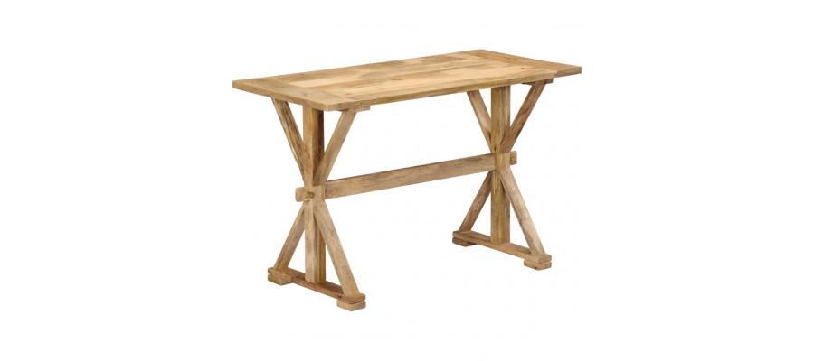 Spisebord 140 x 70 x 76 cm massivt mangotræ