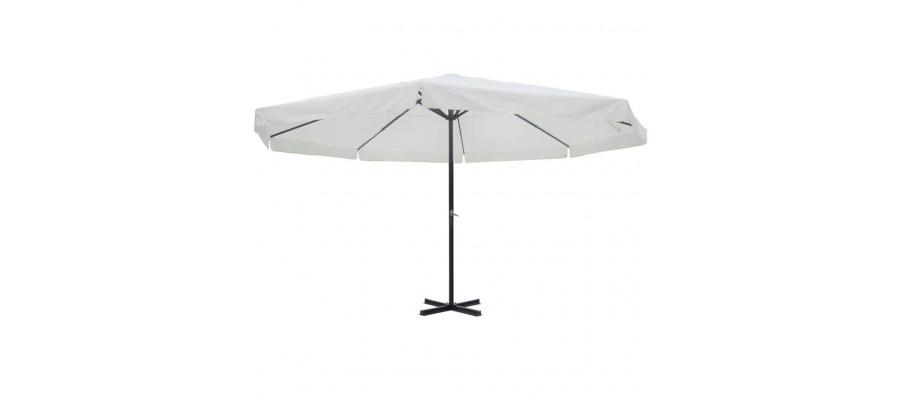 Parasol 500 cm aluminium hvid