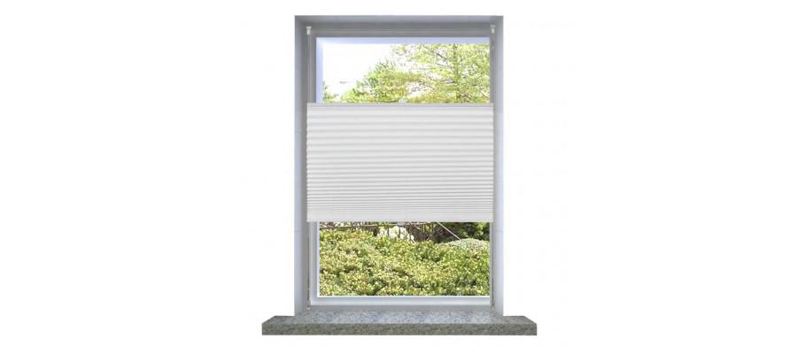Plisseret blind 110x200 cm hvid