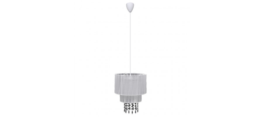 Vedhæng Loft Lampe Lysekrone af Krystal Hvid