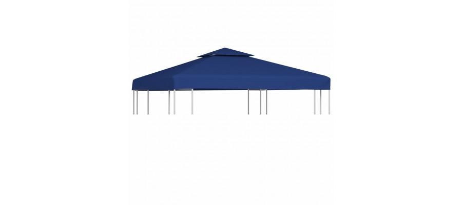 Udskiftningsbaldakin til havepavillon 310 g/m² mørkeblå 3 x 3 m