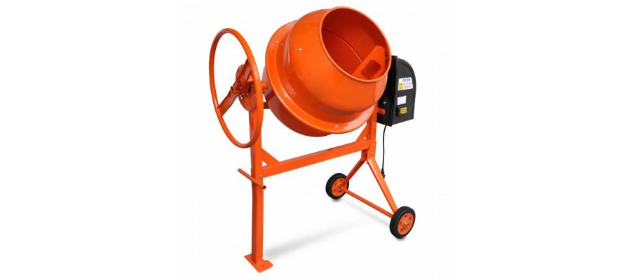 Cementblander 140 l 650 W stål orange