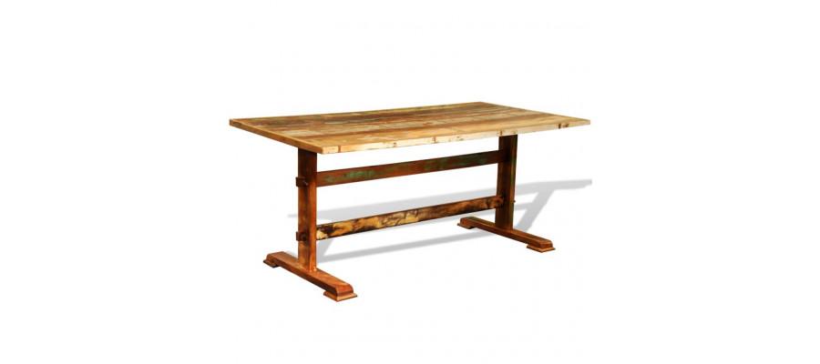 Spisebord vintagestil genanvendt træ