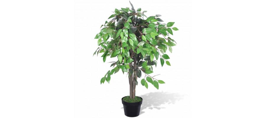 Kunstig Plante Ficus Træ med Potte 90 cm