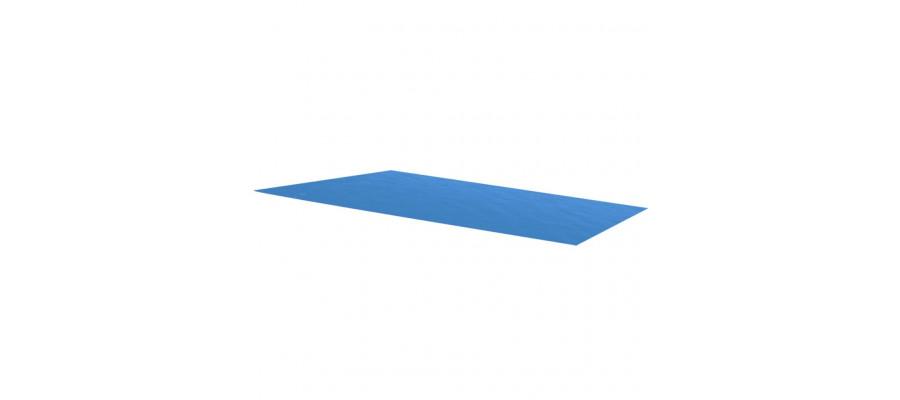 Poolovertræk rektangulært 260 x 160 cm PE blå