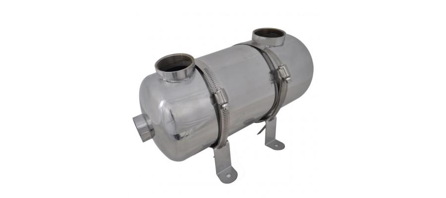 Varmeveksler til pool 355 x 134 mm 40 kW