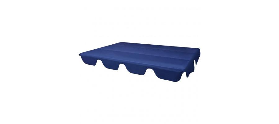 Udskiftelig baldakin til gyngesofa blå 226 x 186 cm