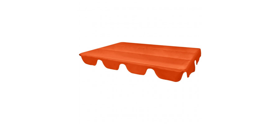 Udskiftelig baldakin til gyngesofa orange 226 x 186 cm
