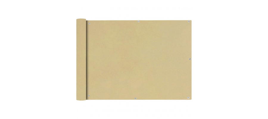 Balkonafskærmning Oxford-stof 75x600 cm beige